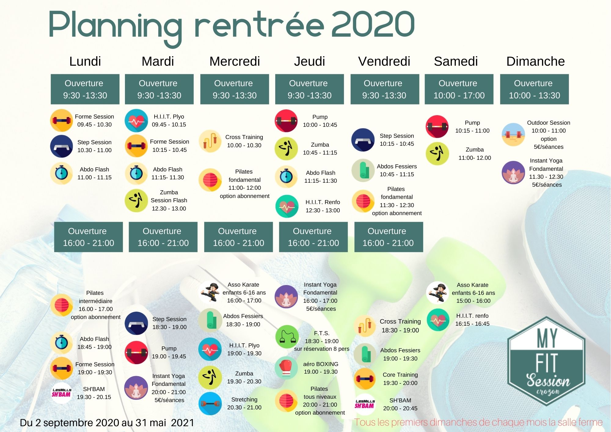 planning myfitsession 2020